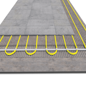 Electrotherm MDIR electric underfloor heating kit installed