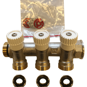 CosyFloor 3 way domestic manifold